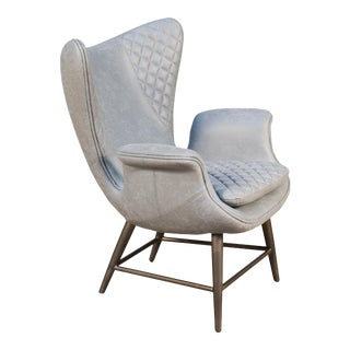 Tudor Single Chair in Light Grey Poly For Sale