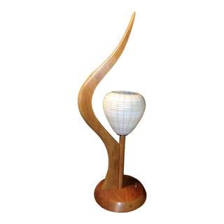 1950s Mid Century Danish Modern Teak Table Lamp