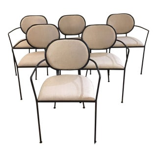 Contemporary Iron Chairs- Set of 6 For Sale