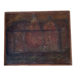 Late 20th Century Pair of Pears Still Life Painting For Sale