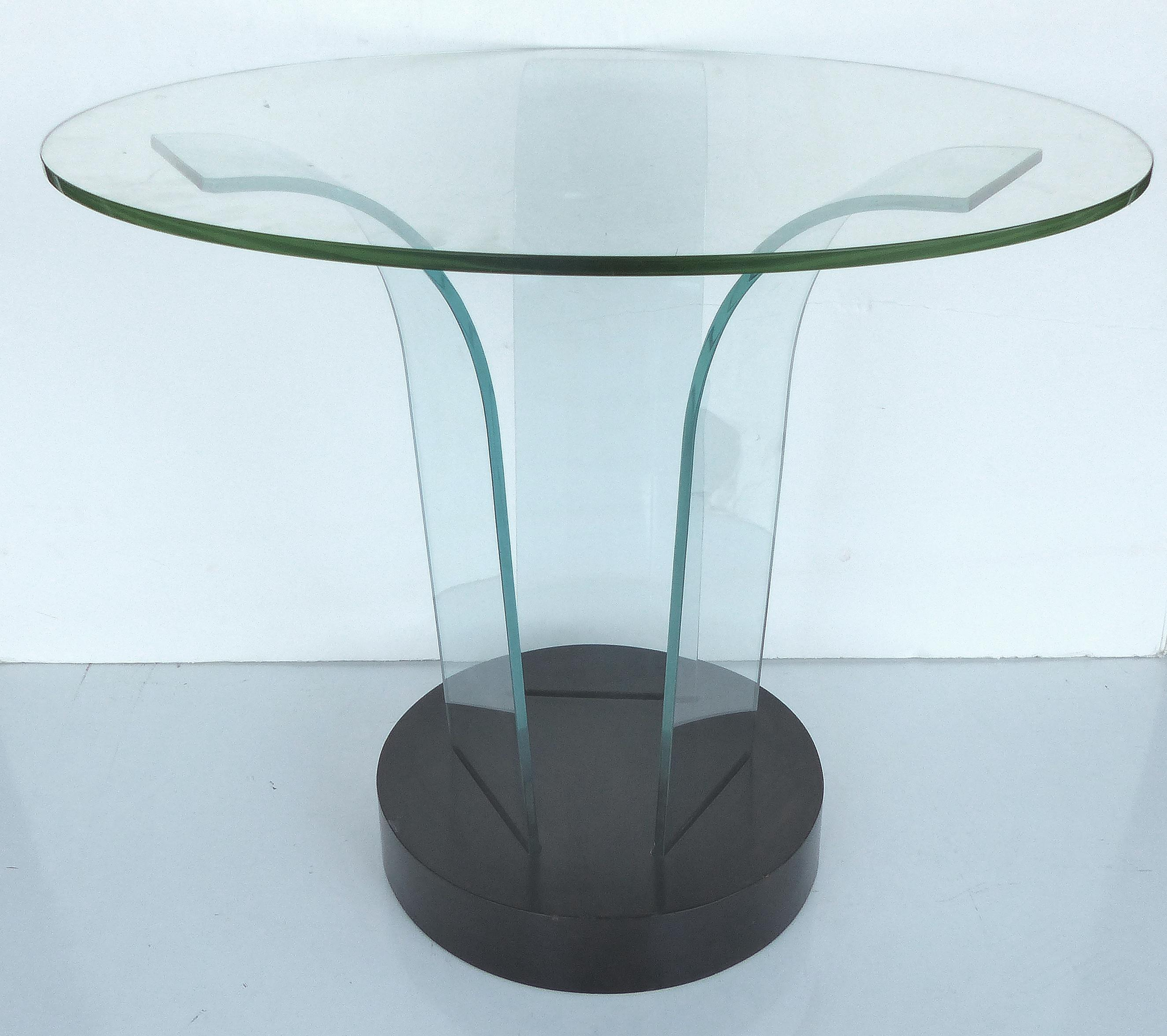 Mid Century Modern Modernage Bent Glass Side Table   Image 3 Of 6