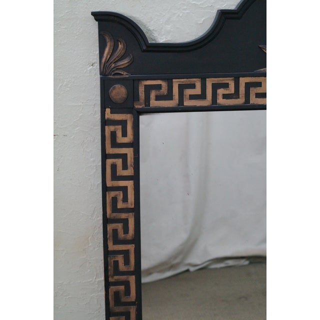 Vintage Hollywood Regency Greek Key Mirror For Sale - Image 5 of 10