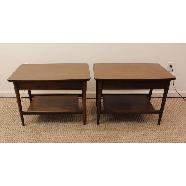 Mid-Century Danish Modern Walnut Side Tables - A Pair - Image 7 of 11