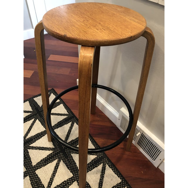 Mid 20th Century Mid Century Alvar Aalto Style Bentwood Counter Stool For Sale - Image 5 of 8