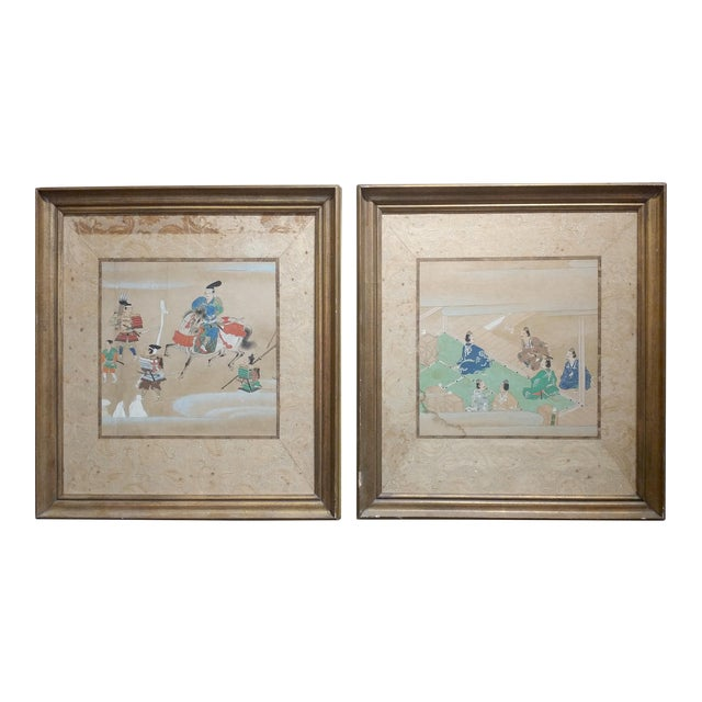 Chinese Antique Paintings on Paper - a Pair For Sale