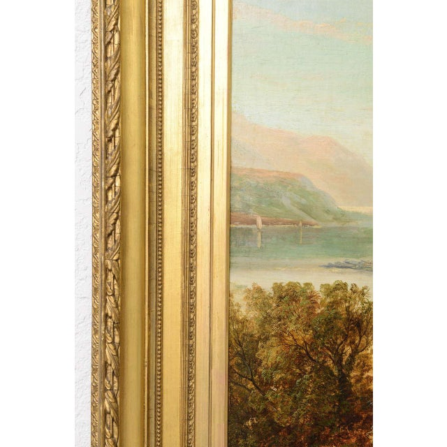 """19th Century Oil on Board Painting, """"Loch Tyt N. B."""": Thomas Hines For Sale In West Palm - Image 6 of 11"""