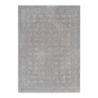 """Mesut, Contemporary Blue 7' 9"""" x 10' 2"""" Power Loomed Area Rug For Sale"""