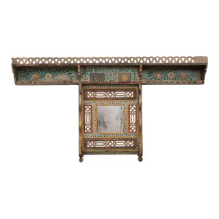 Austrian Early 19th Century Hand-Painted Pine Coat Rack For Sale