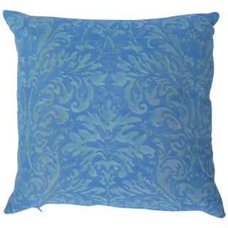 Fortuny Pillow With Vintage Fabric For Sale