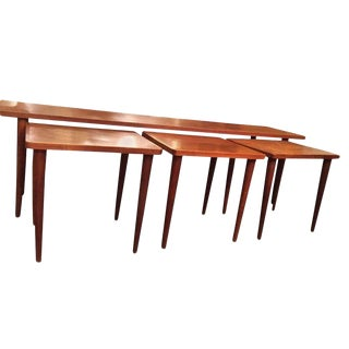 Swedish Long Nesting Coffee Tables - Set of 4