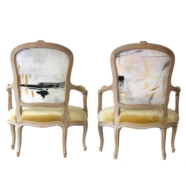 Abstract Pair of French Chairs For Sale - Image 3 of 4