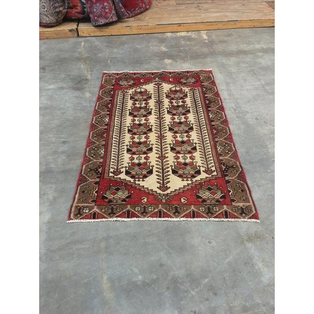 Vintage Hamadan Persian Rug - 3′6″ × 5′4″ - Image 2 of 9
