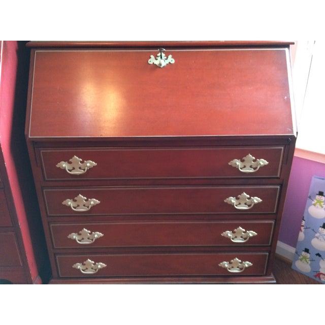 Antique Music Themed Secretary Desk - Image 9 of 11