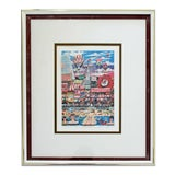Image of Contemporary Framed Coney Baloney 3d Serigraph Signed Charles Fazzino 179/475 For Sale