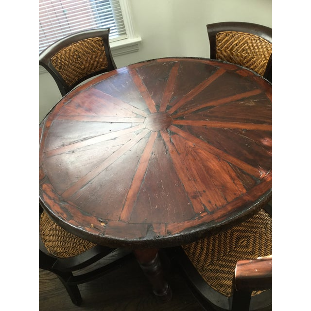 Vintage Style Wooden Dining Set - Image 7 of 7