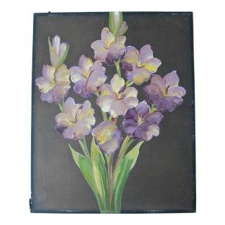 1940's Flower Painting on Silk
