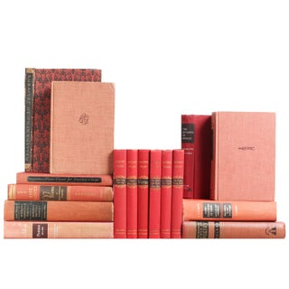 Distressed Red & Orange Poetry - Set of 16