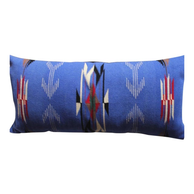 This amazing hand woven Indian weaving has the original fringe and in pristine condition.