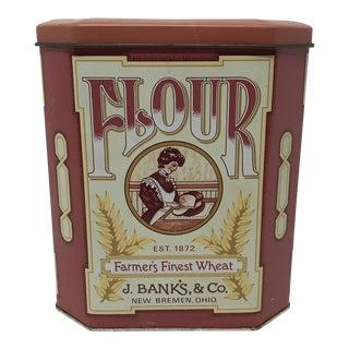 J. Bank's, & Co. English Flour Tin For Sale