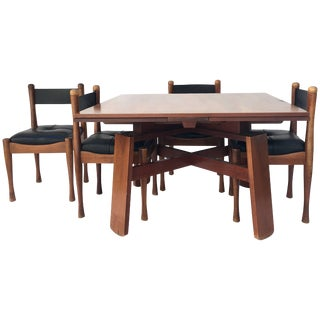 1960s Silvio Coppola Bernini Edition Dining Table With Four Chairs