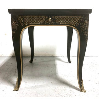 Et Cetera Chinoiserie Black Lacquer Side Table by Drexel Preview