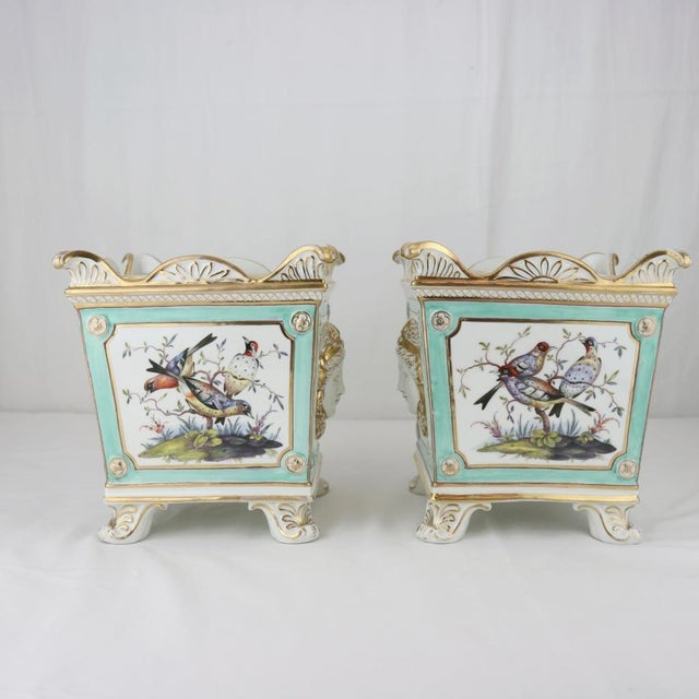 Henry Morris English Swansea Bough Pots - A Pair For Sale - Image 7 of 10
