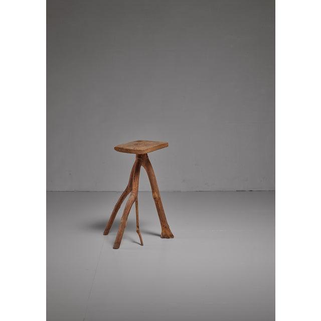 1990s Fernando da Ilha do Ferro craft stool, Brazil For Sale - Image 5 of 5