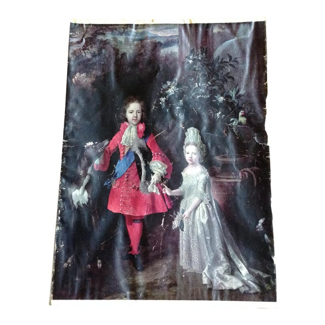 French Aristocratic Couple 18 Th Century Style For Sale