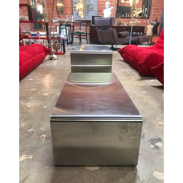 Sculptural Coffee Table Made of Three Modular Glass and Chrome Pieces, 1970s For Sale In Los Angeles - Image 6 of 12