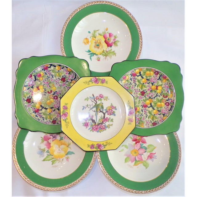 1930s (Final Markdown) 930's Crown Ducal Ware Chintz Plates - Set of 6 For Sale - Image 5 of 13