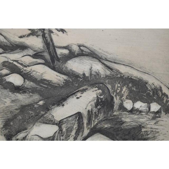"""""""Ledges"""" Etching by Letterio Calapai For Sale - Image 5 of 7"""