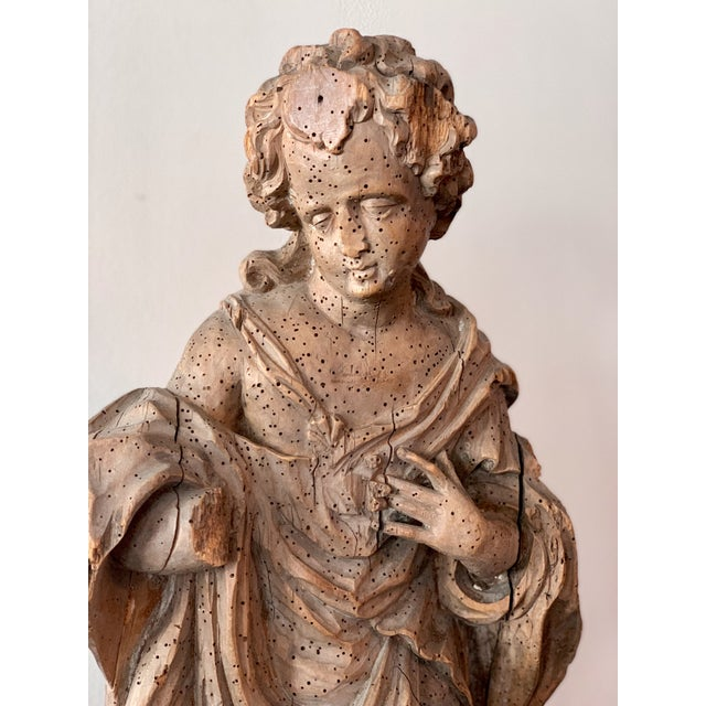 Antique Carved Architectural Figure For Sale In Kansas City - Image 6 of 8