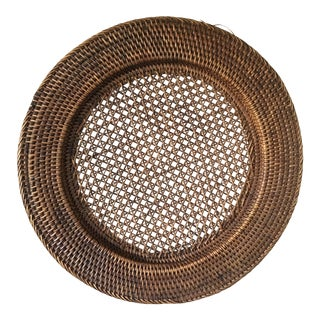 Wicker Large Round Plate For Sale