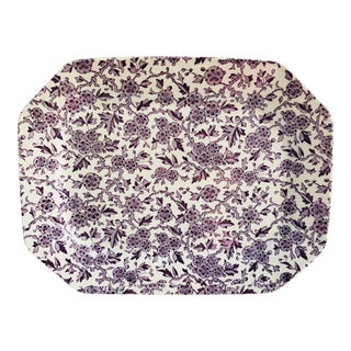 English Staffordshire Chintz Serving Platter