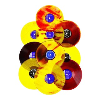 Vintage Colorful Translucent LP's & Covers - Set of 10