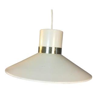 1960s White Metal Hanging Pendant Light