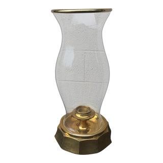 Chapman Mid-Century Modern Brass Hurricane Lamp For Sale