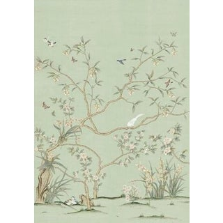 "Casa Cosima Delphine Green Wallpaper Mural - 2 Panels 72"" W X 108"" H For Sale"