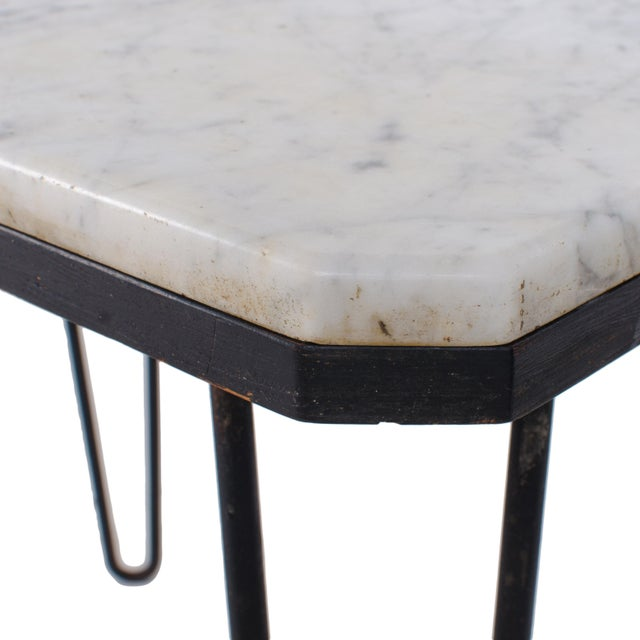 Carrera Marble Hairpin Table For Sale - Image 4 of 7