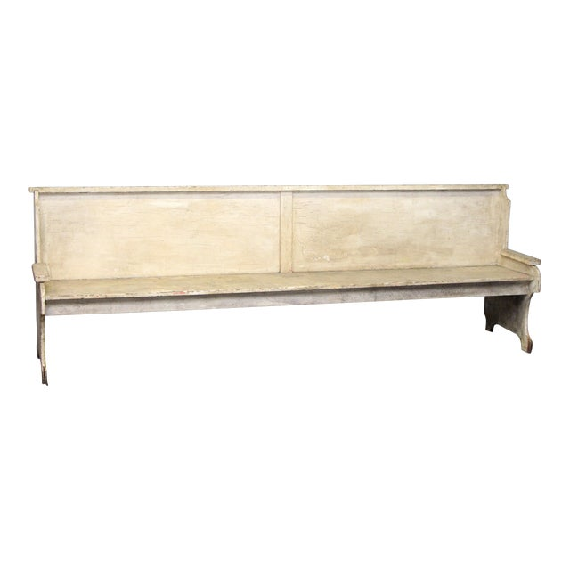 Early 20th Century Antique Wooden Bench