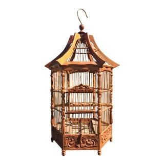 Vintage Wooden Bird Château