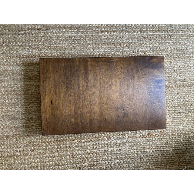 Antique English Oak Folding Butlers Tray Bar For Sale - Image 10 of 11