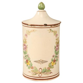 Hand-Painted French Apothecary Jar For Sale