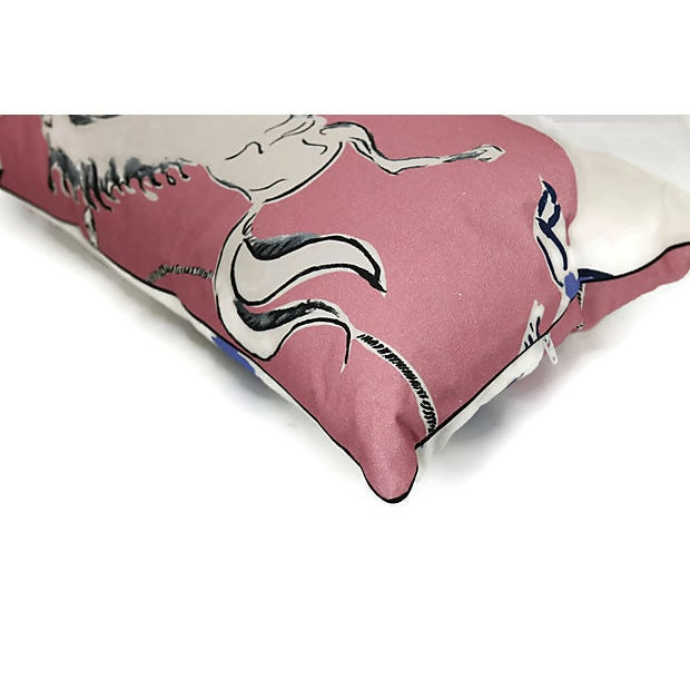 """French Vintage Pierre Frey & Vincent Darrè """"Au Lasso"""" Pillow For Sale - Image 3 of 4"""