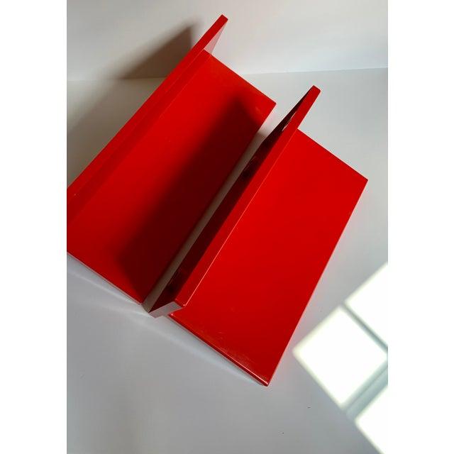 Plastic Vintage Kartell Plastic Shelves-a Pair For Sale - Image 7 of 12