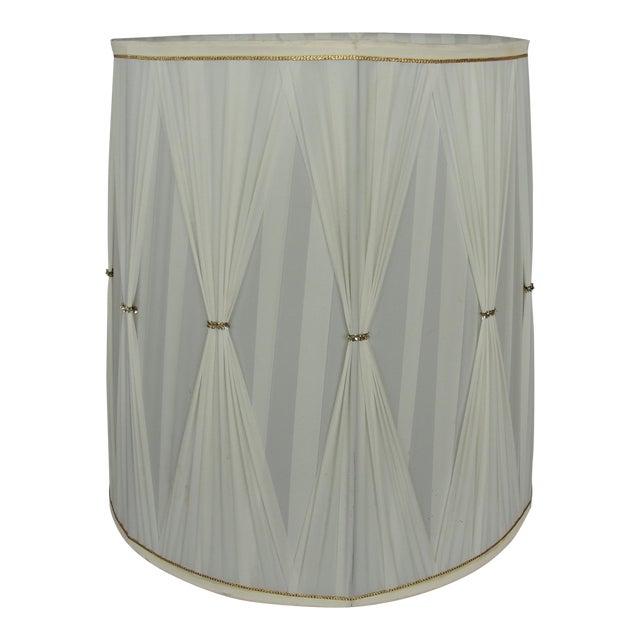 Vintage Mid-Century Modern Cloth Lamp Shade - Image 1 of 7