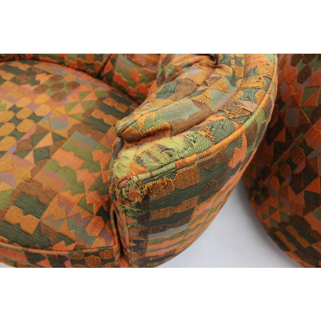 Mid Century Modern Flair -Bernhardt Pair of Upholstered Chairs For Sale In Boston - Image 6 of 13