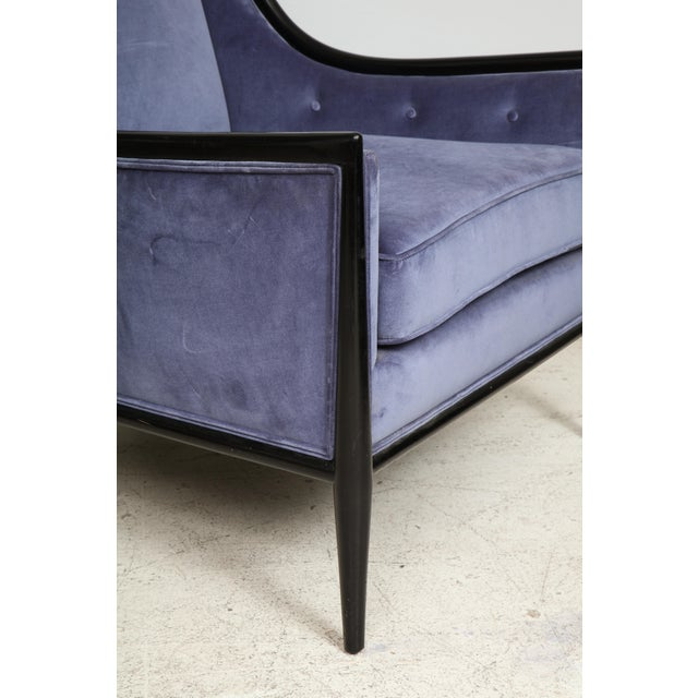 Mid-Century Modern Ebonized Armchairs - a Pair For Sale In New York - Image 6 of 8