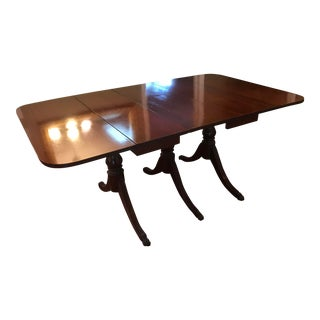 Duncan Phyfe Mahogany with Iron Claw Feet Dining Table For Sale