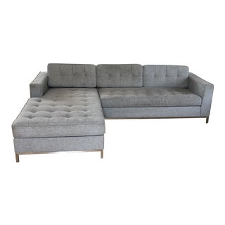 Vintage Gus Modern Jane Bi-Sectional Gray Sofa For Sale